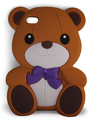 SKS Distribution® rosolare Bow Orso Bear Custodia in silicone / Cover / Case per Apple iPod Touch 4TH Gen Generation 4