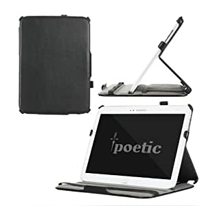 Poetic StrapBack Protective Case for Samsung Galaxy Tab 3 10.1 With HandStrap with Built-in Folding Cover - Black (3 Year Manufacturer Warranty From Poetic)