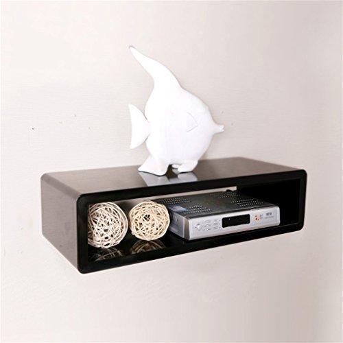 Ahorn-set Schrank (DELLT-Wanddekoration Rack Fernseher Set-Top Box Regal Schlafzimmer Wohnzimmer TV Schrank Dekorative Wand Regal Router Regal ( Farbe : Schwarz , größe : 50*20*13cm ))