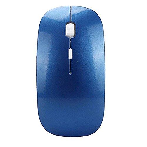 Gemini _ Mall® Kabellose Maus, 2,4G Slim Silent Click USB Mäuse Symmetrische Optische Notebook PC Computer schnurlose Maus Mini mit Nano Empfänger für Windows7/8/10/XP MAC vista7/8Linux MacBook blau blau