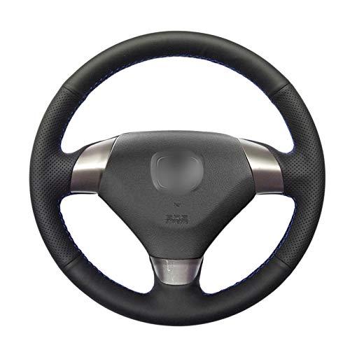 ZYTB Für Hand nähen schwarz pu Auto lenkradbezüge wrap für Honda Accord 7 Coupe 2003-2007 (3-speichen),Gray