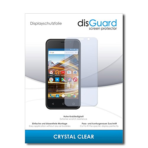 disGuard® Bildschirmschutzfolie [Crystal Clear] kompatibel mit Archos 40 Neon [4 Stück] Kristallklar, Transparent, Unsichtbar, Extrem Kratzfest, Anti-Fingerabdruck - Panzerglas Folie, Schutzfolie