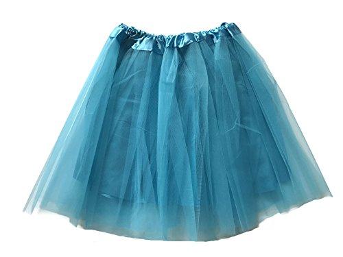 Rush Dance Tüllrock für Erwachsene, klassisch, Ballerina, 3 Schichten, Satinfutter, Damen, türkis, Teen/Adult