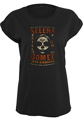Urban Classics Ladies T-Shirt Selena Gomez Kill Em Skull Black