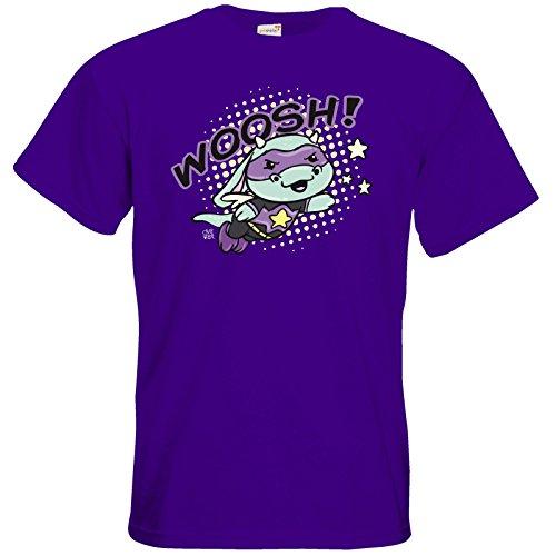 getshirts - Crapwaer - T-Shirt - Superhero - mooh Purple