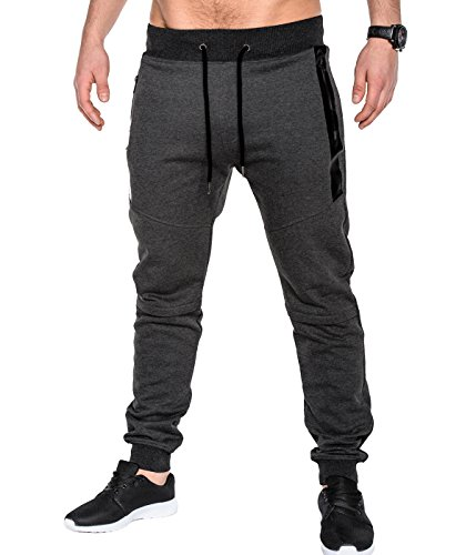 BetterStylz SlvrCatBZ Jogginghose Trainingshose Sportswear Tech Fleece Jogger Hose Sweatpant 3 Farben (S-XXL) (Medium, Anthrazit) (Fleece Air Pant)