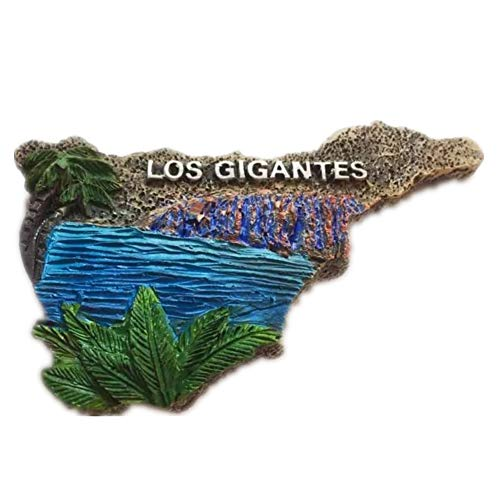 Tenerife Map of Spain Europe World City resin 3d strong magnet for fridge souvenir tourist gift Chinese handmade magnet crafts creative home and kitchen magnetic decoration