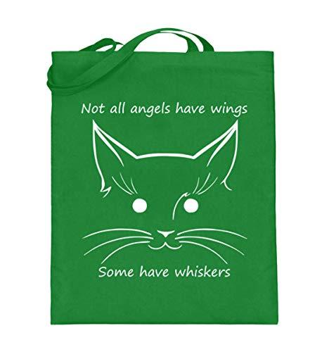 generisch Not all angels have wings, some have whiskers | Katze Katzen Engel - Jutebeutel (mit...