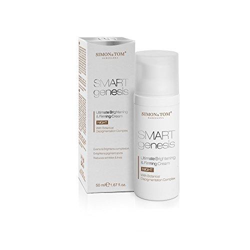 Simon & Tom SMART GENESIS Crema de noche reafirmante✔50ML✔ilumina la piel ✔Vegana ✔No testada en animales✔Sin Parabenos