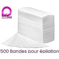 Purenail - Set de 500 bandas de depilación no tejidas (incluye 100 bandas gratuitas)