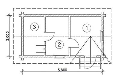 JUNIT Rundbohlen-Saunahaus RBS174 3x5,8m Gartensauna Jadthaus von FASSWELT auf Du und dein Garten