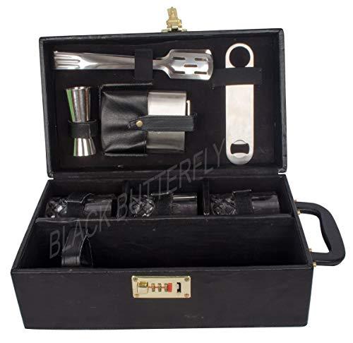 Black Butterfly Bar Tools Set - Kitchen, Home, Bar - Bar Accessories (Brown)