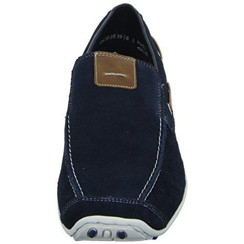 Rieker 8968, Mocassins Homme Bleu (Pazifik/amaretto / 15)
