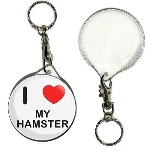 I Love My Hamster - 55mm Llavero botón insignia