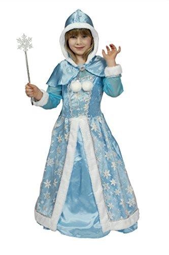 Schneekönigin in hell-blau | Größe 116-152 | Prinzessin-Kostüm-Kinder