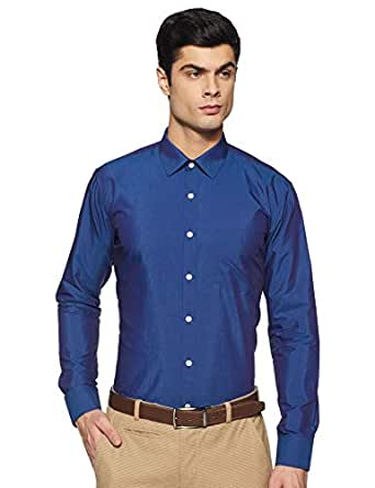 Amazon Brand - Symbol Men's Solid Slim Fit Full Sleeve Formal Shirt