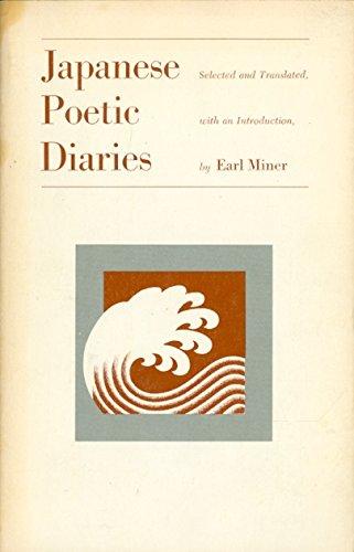 Japanese Poetic Diaries (Publication of the Center for Japanese & Korean studies)