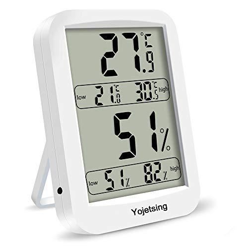 Yojetsing Digitales Thermo-Hygrometer Raumklimakontrolle Luftfeuchtigkeitsmesser gut lesbar Thermometer digital für Innenräume