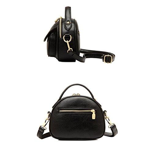 Borsa WU ZHI Ladies Handbags Selvatici Della Spalla Borsa In PU Borsa Di Grande Capacità Black