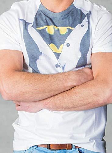 Batman Blouse T-Shirt weiß XXL