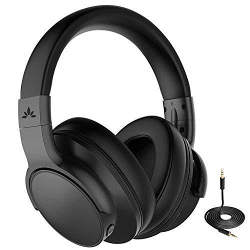 Avantree [Upgraded] Active Noise Cancelling Wireless Bluetooth Kopfhörer für Flugzeug Reisen Mähen, Drahtlose Wired ANC Over Ear Funkkopfhörer fur Fernseher, Low Latency Hi-Fi Headset für PC TV Handys