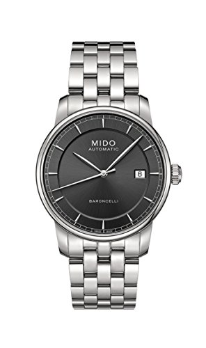 Mido Herren-Armbanduhr Baroncelli Analog Automatik Edelstahl M86004131