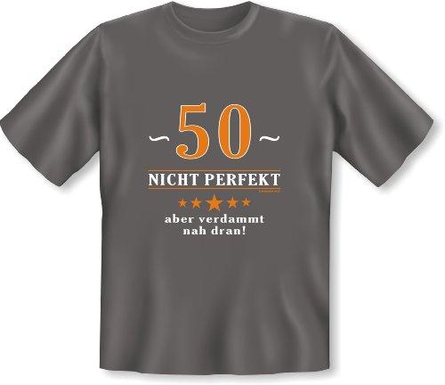T-Shirt 50 Jahre: 50 - nicht perfekt aber verdammt nahe dran! Dunkelgrau