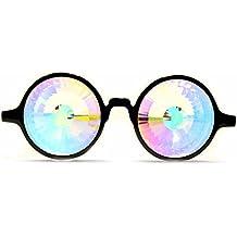 GloFX Homme Lunettes de Kaleidoscope - verres en cristal arc-en-prisme -  fractale 3e9179557fc3