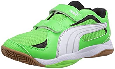 Puma Ballesta V Jr, Unisex-Kinder Hallenschuhe, Grün (fluo green-white-black 12), 28 EU (10 Kinder UK)
