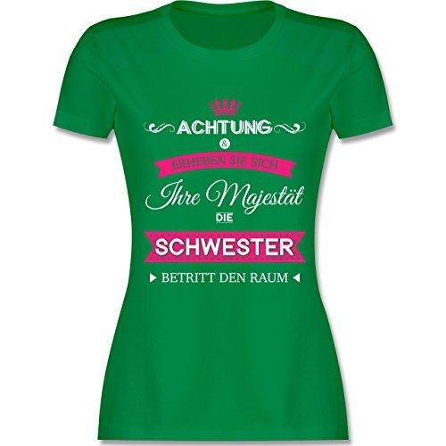 Shirtracer Schwester & Tante - Ihre Majestät Die Schwester - Damen T-Shirt Rundhals Grün