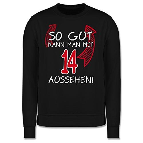 Geburtstag - So gut kann man mit 14 aussehen - Herren Premium Pullover Schwarz