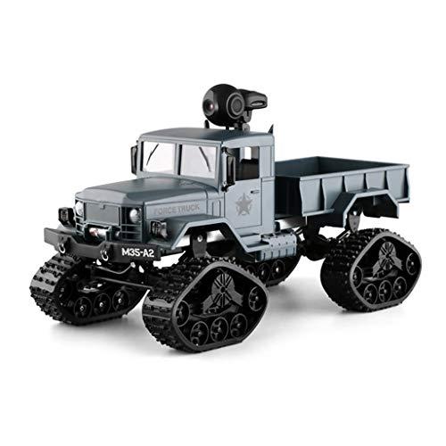 Sixcup® M35-A2 4WD Rock Crawler Simulation Militärkarte RC Car 2.4G WiFi Echtzeit Übertragung FPV LKW 720P Kamera RTR Fernbedienung Auto Fahrzeug Crawler Offroad Truck/Off Road Fahrzeug (Blue) - Gas-rc-car Motoren