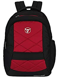 Urban Tribe Jumbo Anti Theft Lock Zipper 17.3 Inch Big Size Black and Red Laptop Backpack with Quick Access Front Pocket