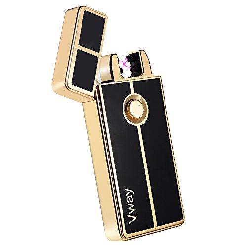 vvay-doppeltes-elektrisches-lichtbogen-feuerzeug-gold
