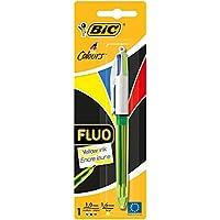BIC 4 Couleurs Fluo Stylo-Bille - Blister de 1