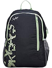 Skybags Polyester Black Casual Backpack (BPBRA11EBLK)