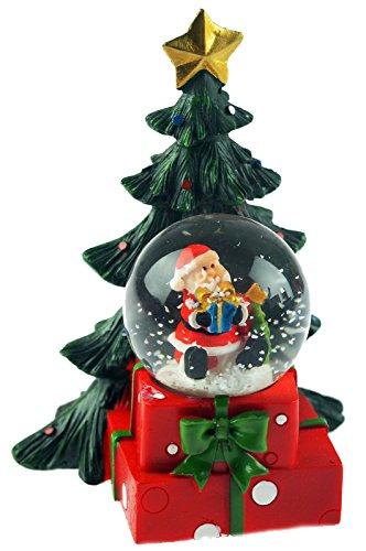 LP Support LED-Licht bis Santa/Weihnachtsbaum Snow Globe Water Ball (Krippenfiguren Schneekugel)