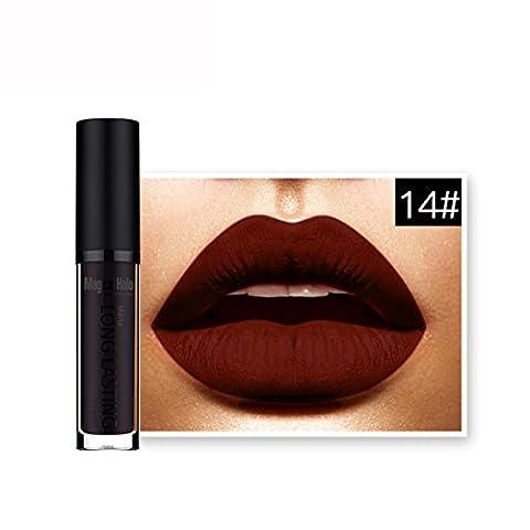 Amlaiworld 18 Couleurs Rouge à lèvres Liquide Gloss Mat - 14#