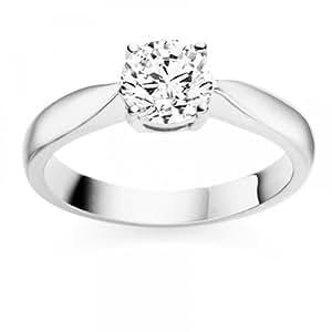 0.97 Carat F/VS1 Round Brilliant Certified Diamond Solitaire Engagement Ring in Platinum