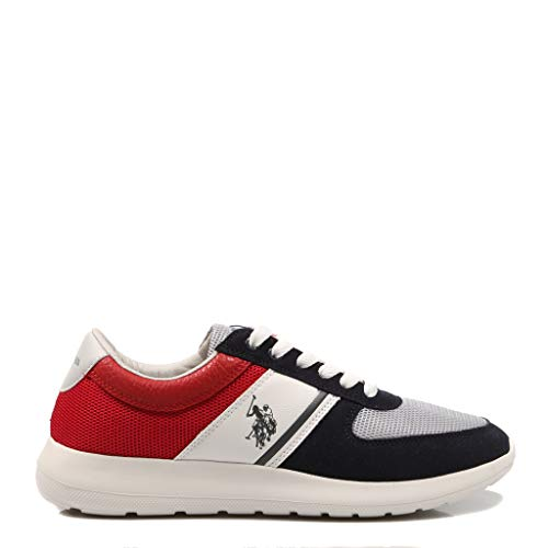 U.S. POLO ASSN DILLIER Navy-Red FAREL4027S9/MY1 Sneaker per Uomo, 40
