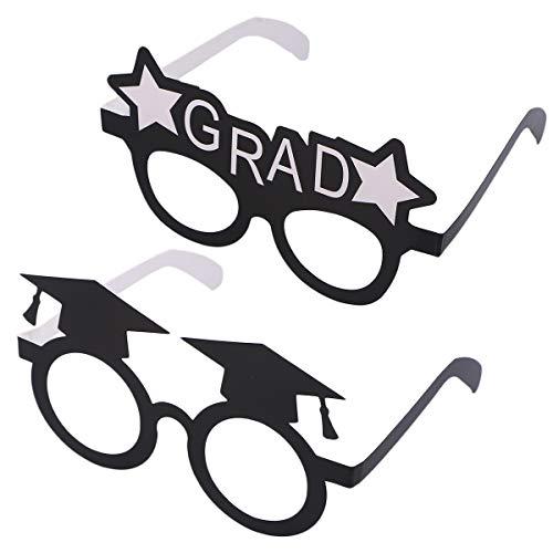 Amosfun Graduation Hut Brille Eyewears Papier Photo Booth Props 2019 Grad Partydekorationen 16 Stücke
