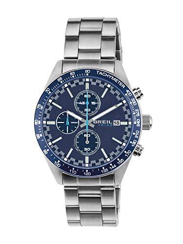 Orologio breil uomo fast quadrante mono-colore blu movimento chrono quarzo e bracciale acciaio ew0323