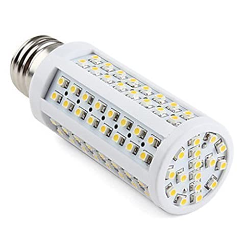 E26 E27 Screw Fitting 120X3528 Cluster Led Bulb Edison Base Lamp Ac Dc 12V 24V ES Fit Replacement for 40W Traditional Light Bulbs & Low Volt Vehicle RV, Marine, Bus, Yacht Lightings, Warm White,
