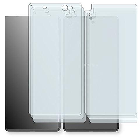 6 x Golebo Schutzfolie für Sony Xperia XA Ultra Vorder + Rückseite Folie Displayschutzfolie AntiReflex matt (3 x VORNE und 3 x RÜCK HINTEN Folie) (bewusst kleiner als das Display, da dieses gewölbt
