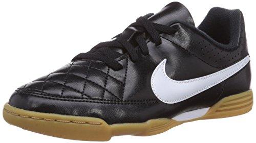 Nike Tiempo Rio II IC Chaussures de Football pour Enfant Unisexe - Noir - Noir (Noir/Blanc), 31.5 EU
