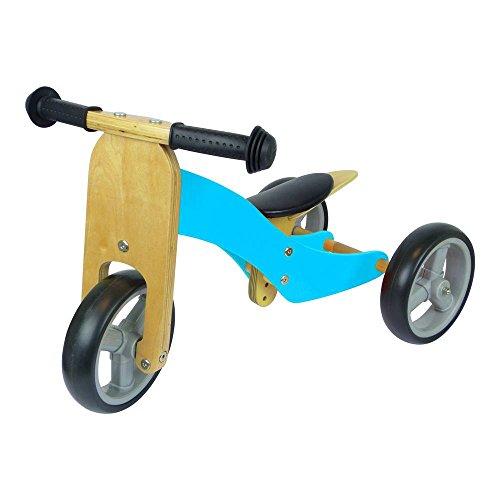Unbranded Triciclo Madera Verde, Unisex, Dreirad, Azul