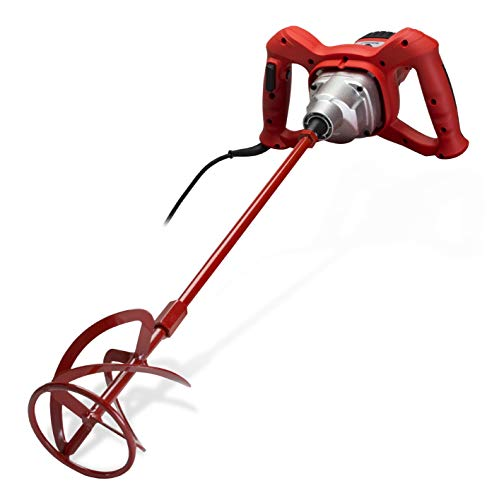Rubi Rubimix-7 Handheld Double Handle Powerful 1200 Watt Variable Speed Electric Mixer for Mixing Tile Adhesives, Resins, Paints, Cement Mortar