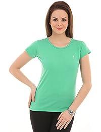 Ultrafit kurze Ärmel Performance Rundhals-T-Shirt T Frauen / Damen grundlegendem blouse- grün