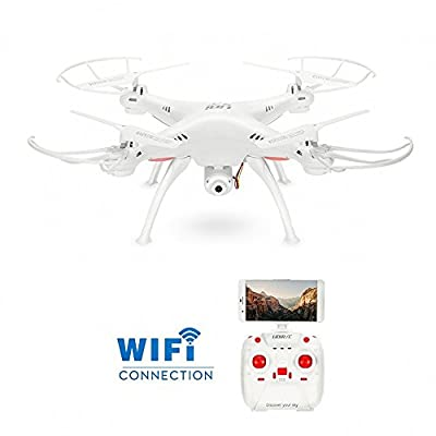GoolRC Super Stable Wifi FPV Drone RTF Quadcopter with 0.3MP Camera Drone Headless Mode One Key Return & Altitude Hold Function Drone Smart Phone App Control Drone