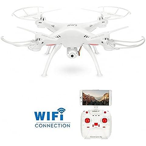 GoolRC L15W Drone con Cámara 0.3MP Wifi FPV Transmisor 2.4G 4 Canales 6 -Ejes Gyro 360° Flip Vuelto-una tecla Mantenimiento de Altitud